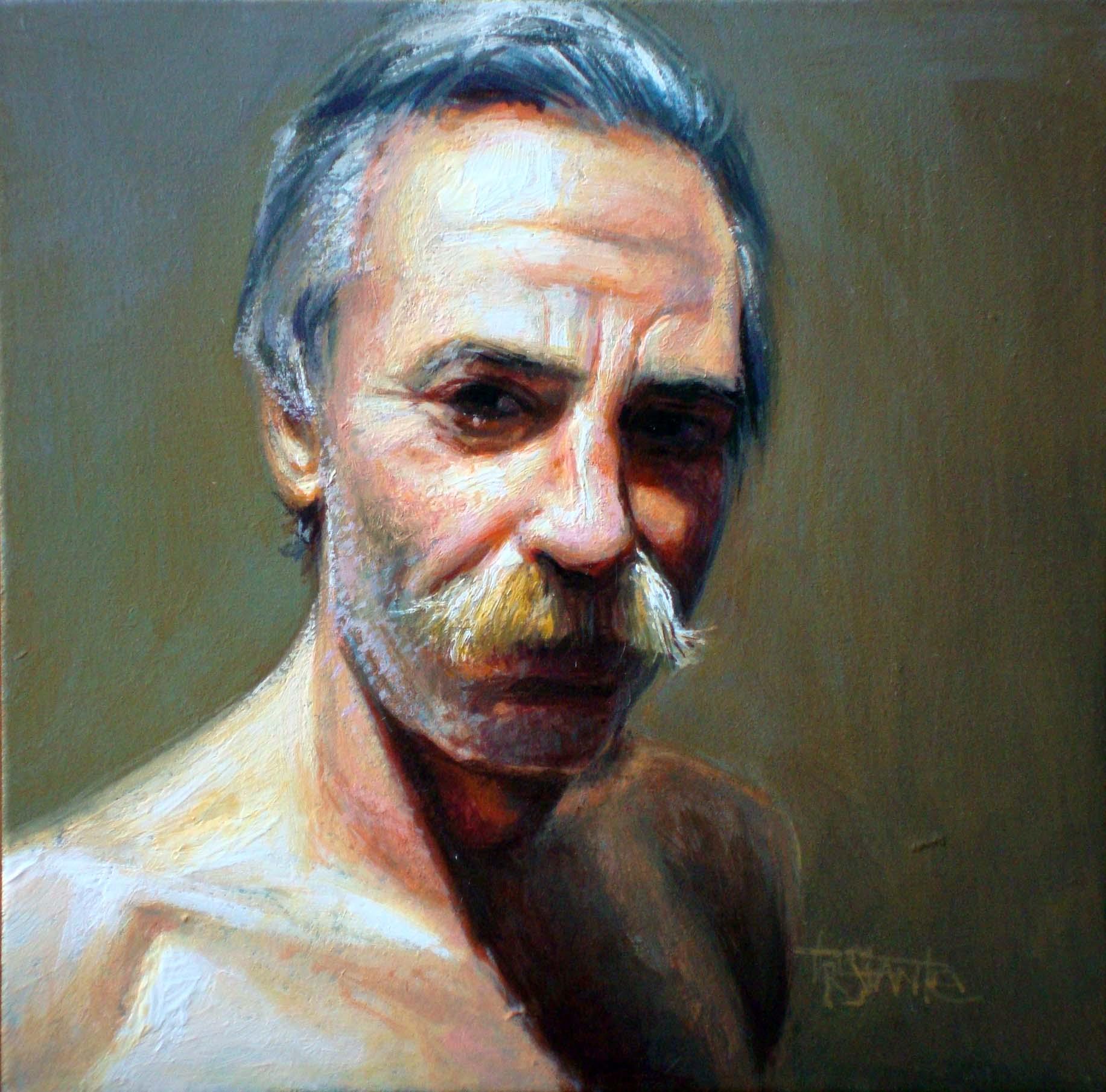 """Fernando the framer"" original fine art by Víctor Tristante"