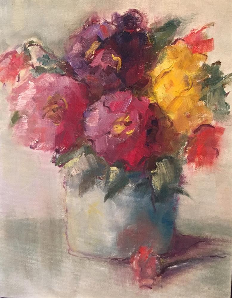 """Mixed Bouquet"" original fine art by Gayle Lambeth"