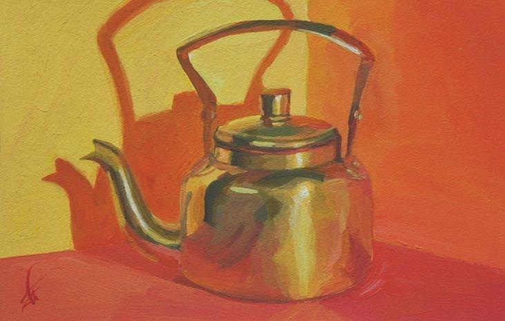 """""""Brass Pot"""" original fine art by Mark Allison"""