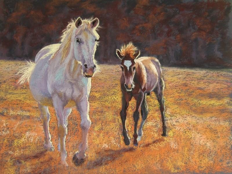 """""""Follow Me"""" original fine art by Ruth Mann"""
