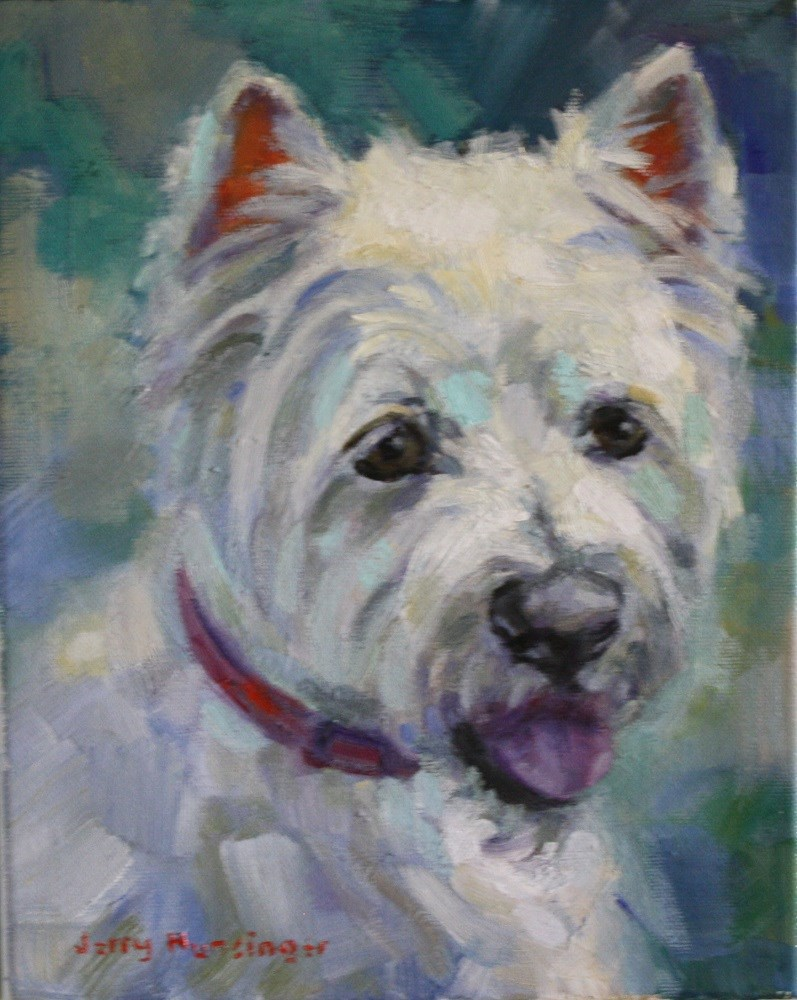 """West Highland Terrier"" original fine art by jerry hunsinger"