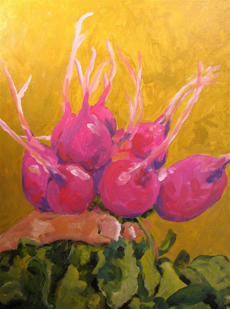 """Radishing Beauty"" original fine art by Susan Elizabeth Jones"