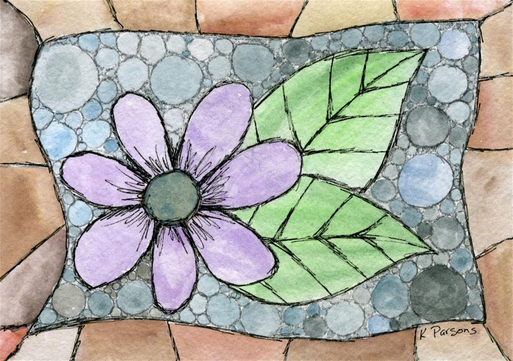 """Flower Amongst Stones"" original fine art by Kali Parsons"