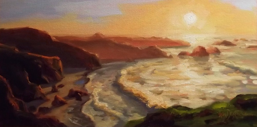 """White Water Aglow"" original fine art by Erin Dertner"