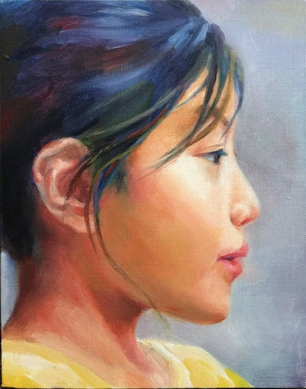 """""""portrait"""" original fine art by Joy Cai"""