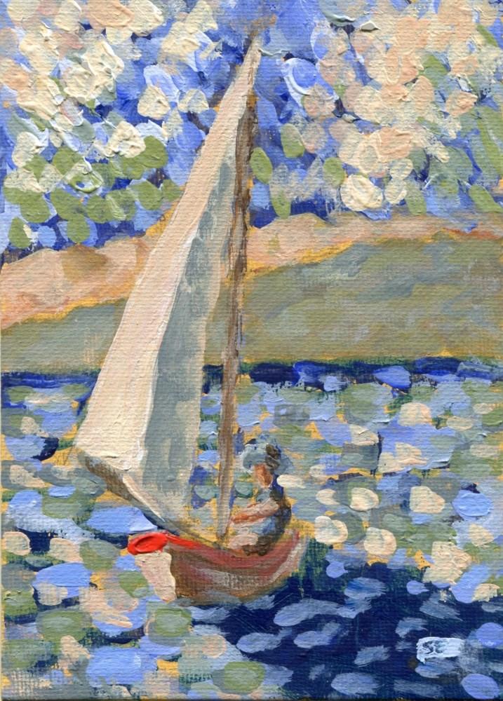 """""""Blue Rider"""" original fine art by Stanley Epperson"""