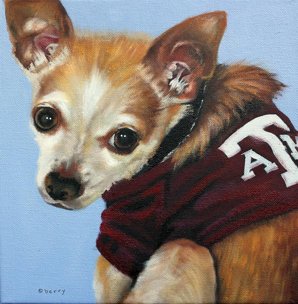 """PUP"" original fine art by Suzanne Berry"