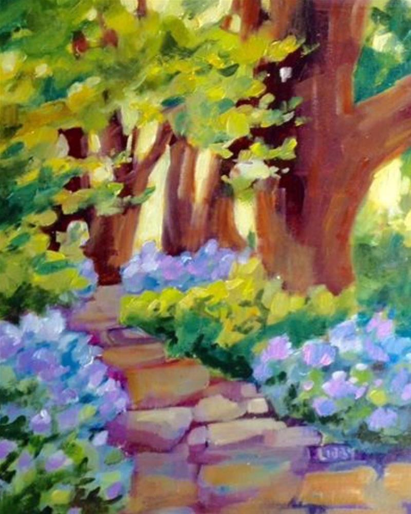 """Blue Path"" original fine art by Libby Anderson"