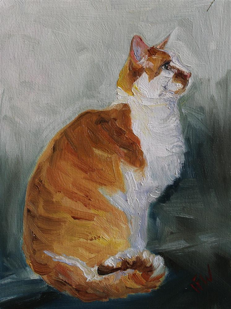"""Joey the Cat"" original fine art by H.F. Wallen"