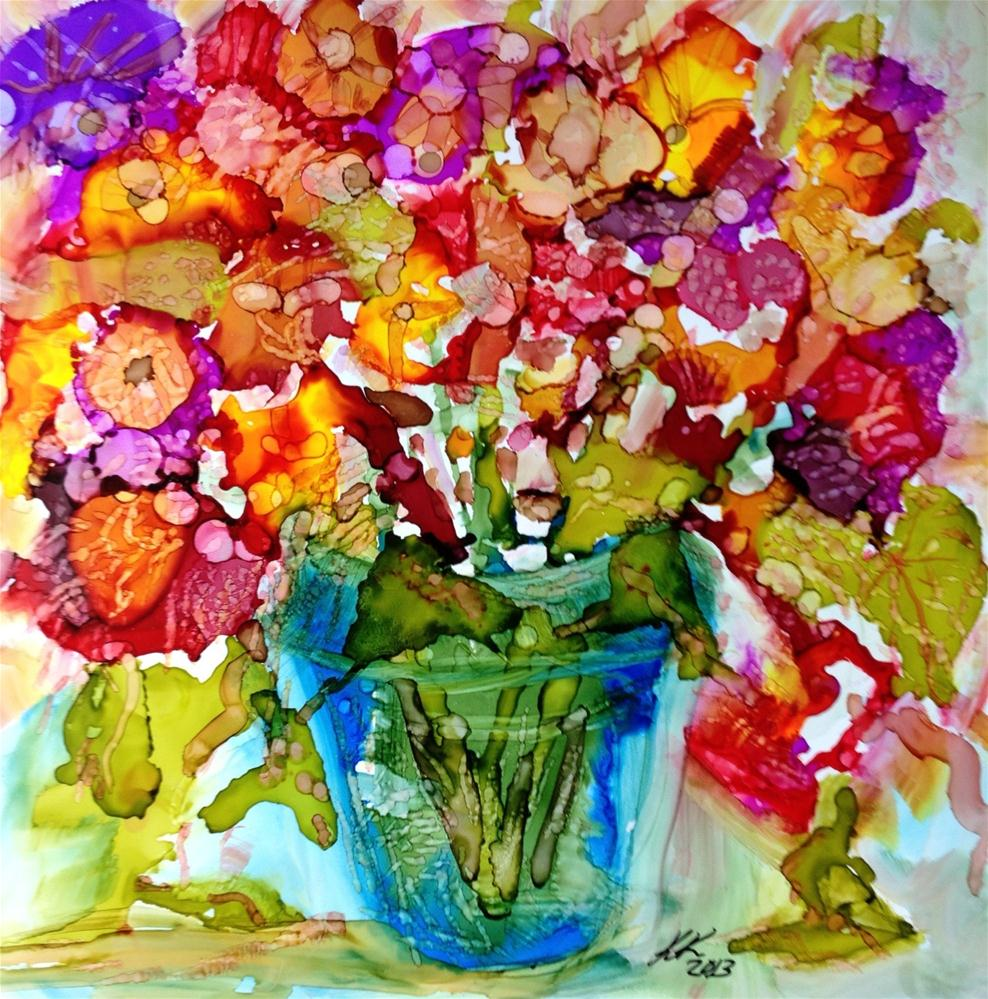 """Posies"" original fine art by Kelly Alge"