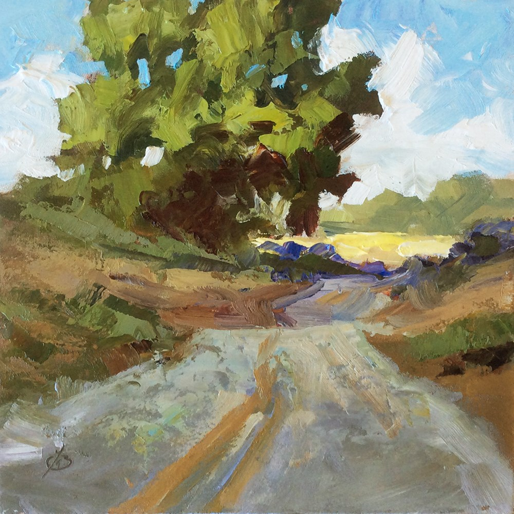 """BACK ROAD IN THE COUNTRY"" original fine art by Tom Brown"