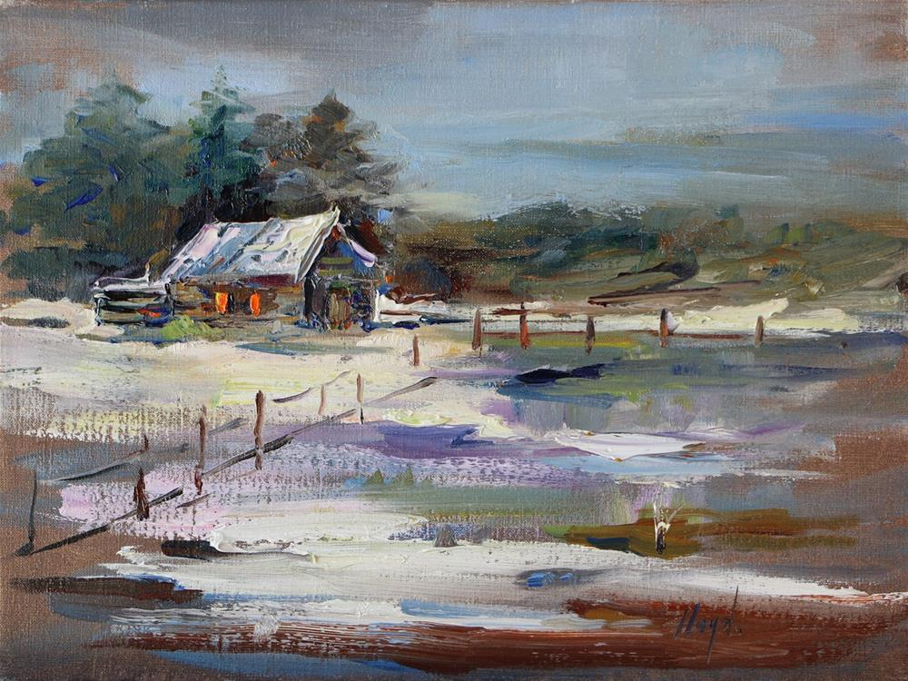 """Snow Melt"" original fine art by Diane Lloyd"