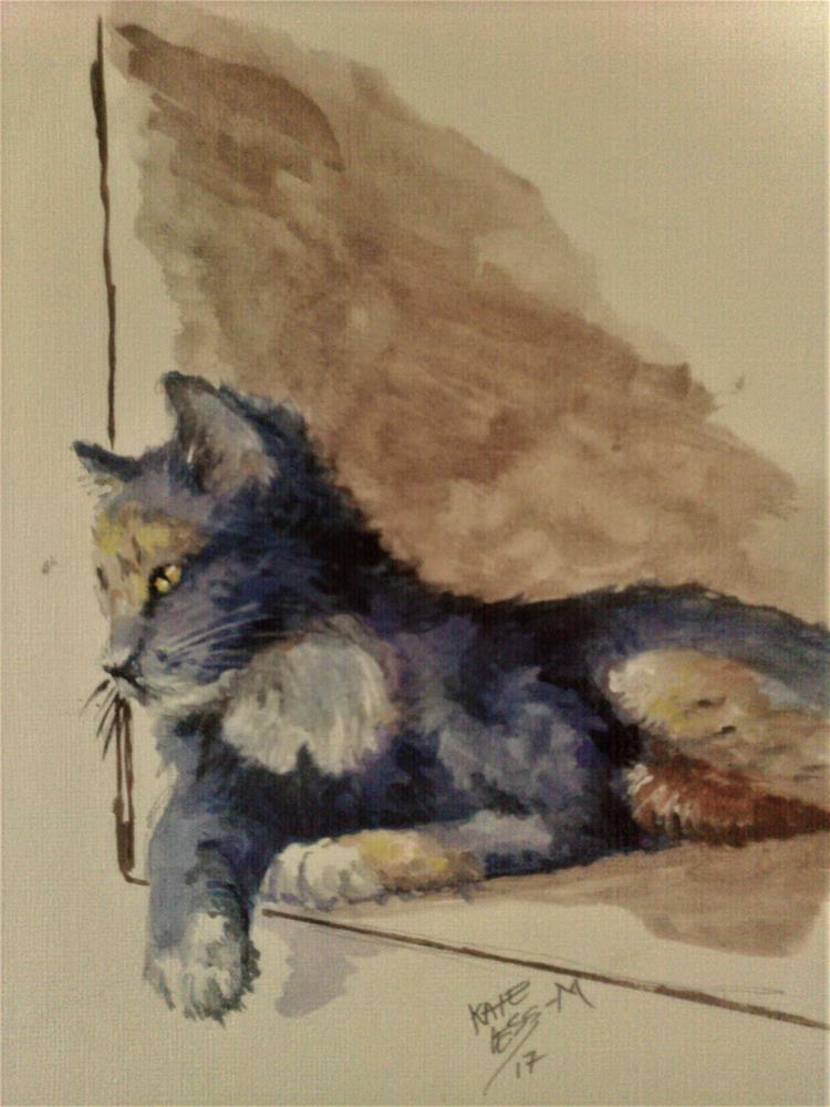 """Lookout"" original fine art by Kate Less-Madsen"