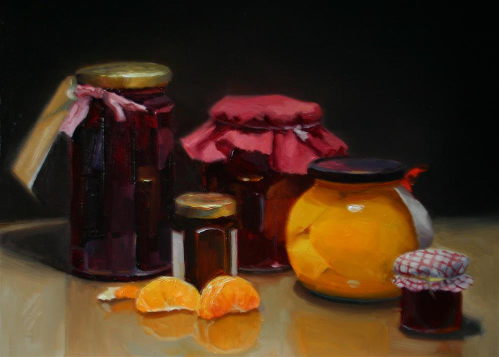 """Preserved in Fruit"" original fine art by Liz Balkwill"