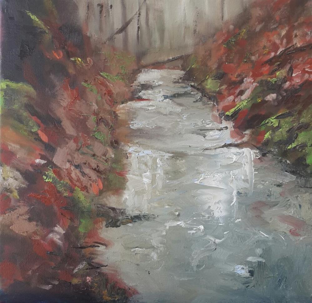 """""""Autumn's last"""" original fine art by Rentia Coetzee"""