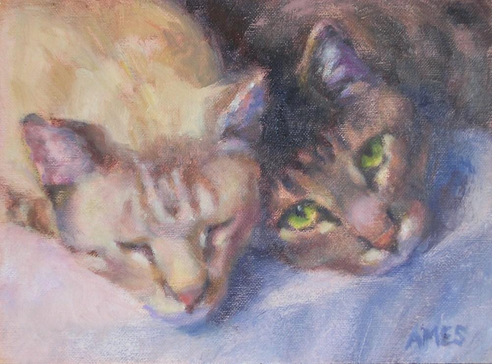 """""""Boyz"""" original fine art by Debra Ames"""