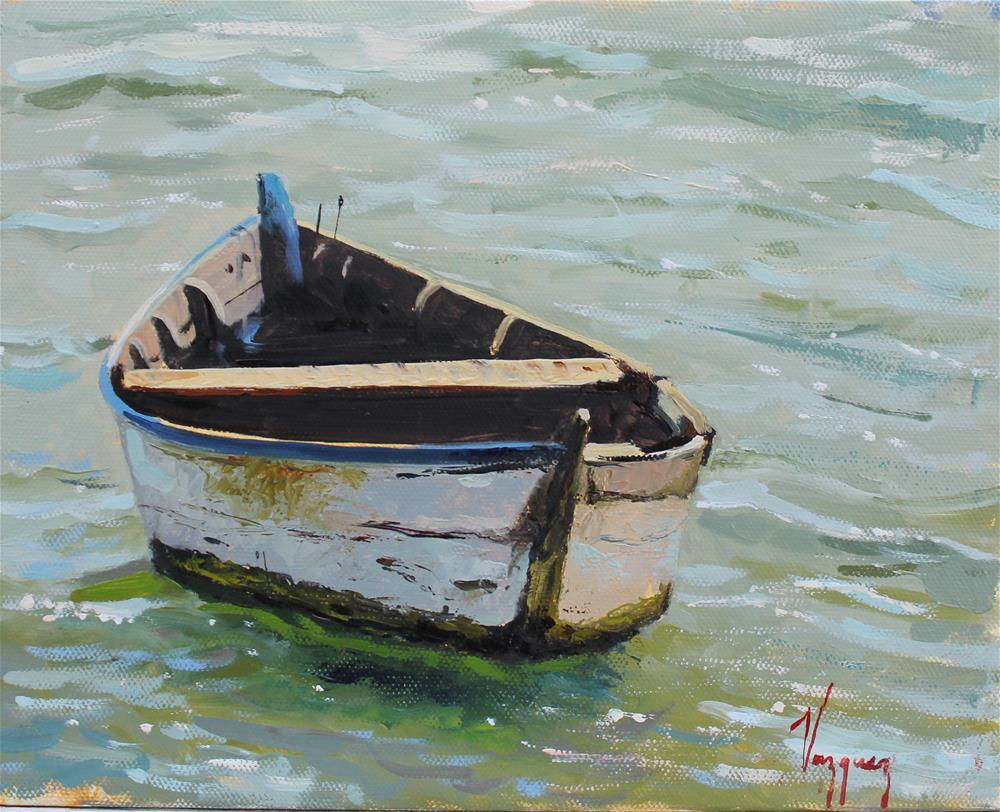 """Old, empty boat "" original fine art by Marco Vazquez"