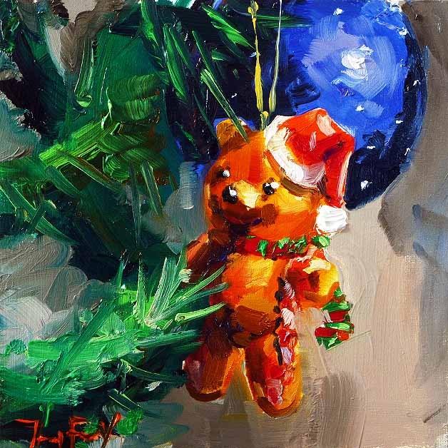"""""""Frohe Weihnachten!"""" original fine art by Jurij Frey"""