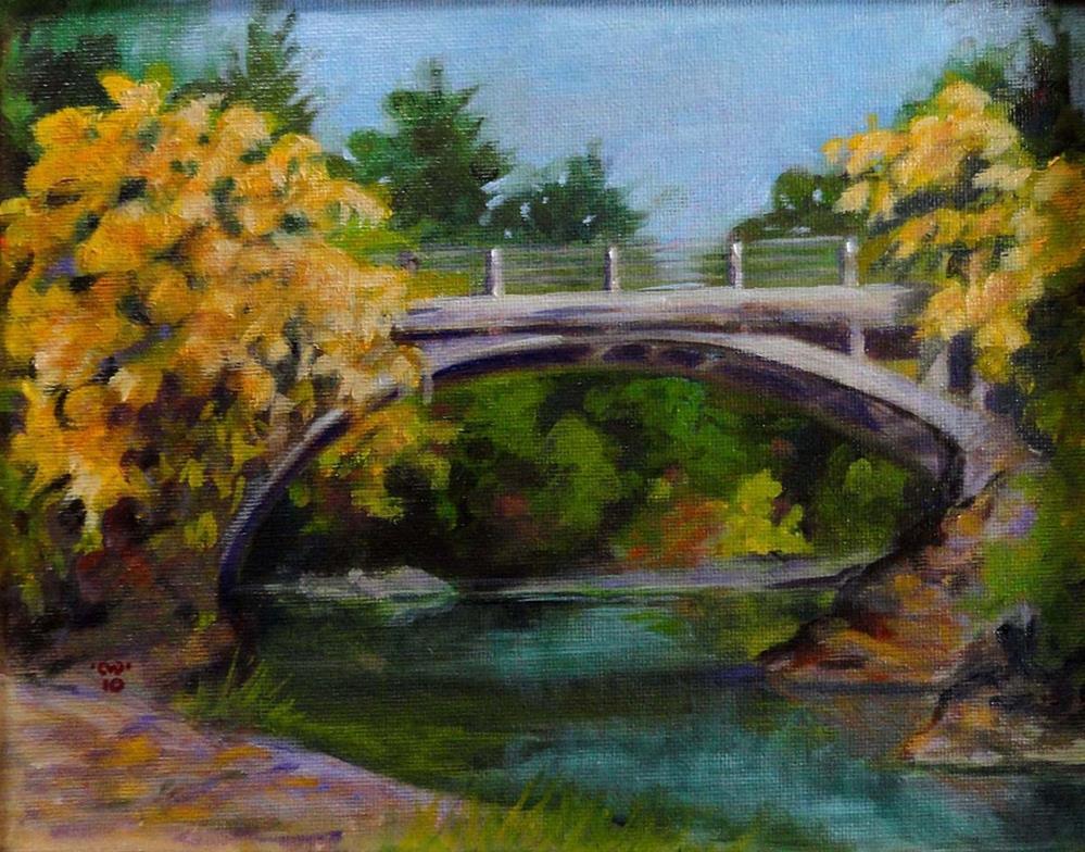 """""""Ettersburg Bridge"""" original fine art by Cietha Wilson"""
