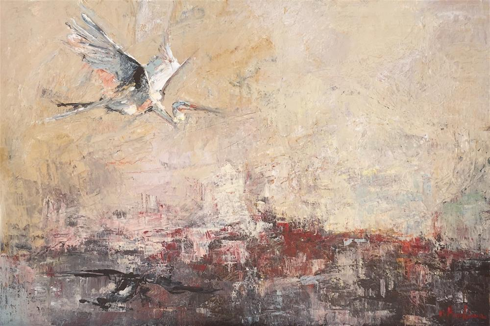 """Resurface"" original fine art by Denise Hopkins"