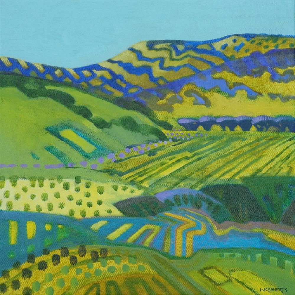 """Round Valley Rhythms"" original fine art by Nancy Roberts"