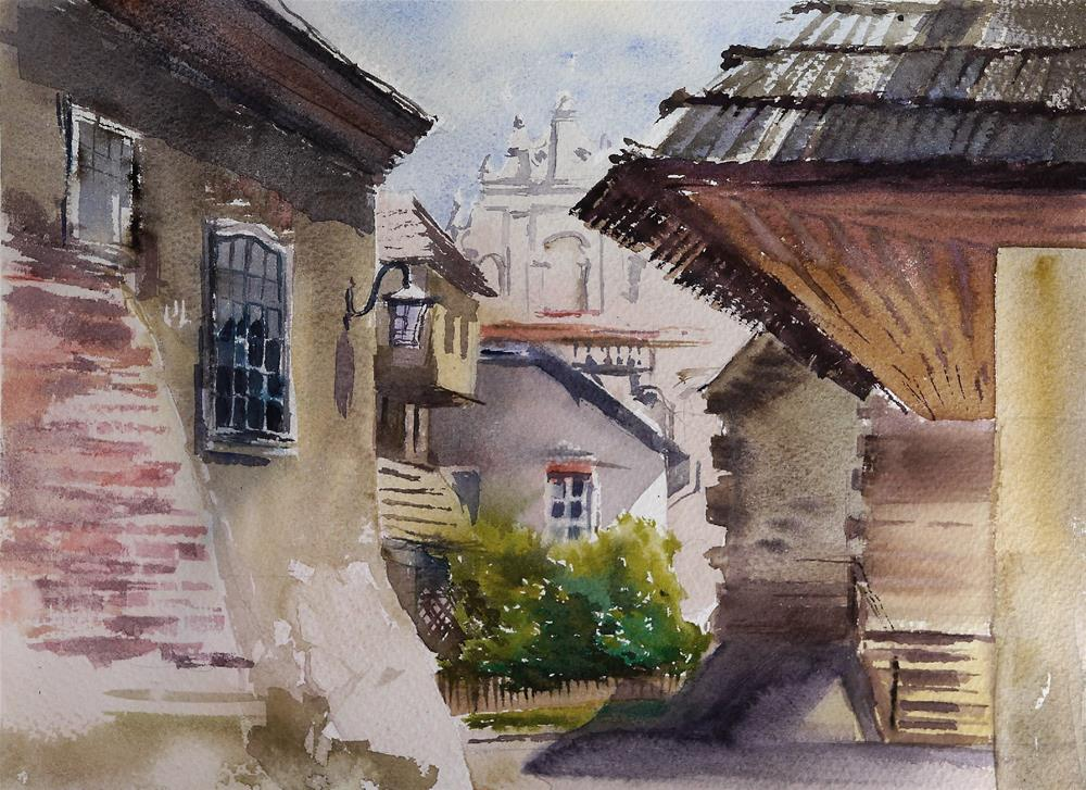 """synagogue"" original fine art by Beata Musial-Tomaszewska"