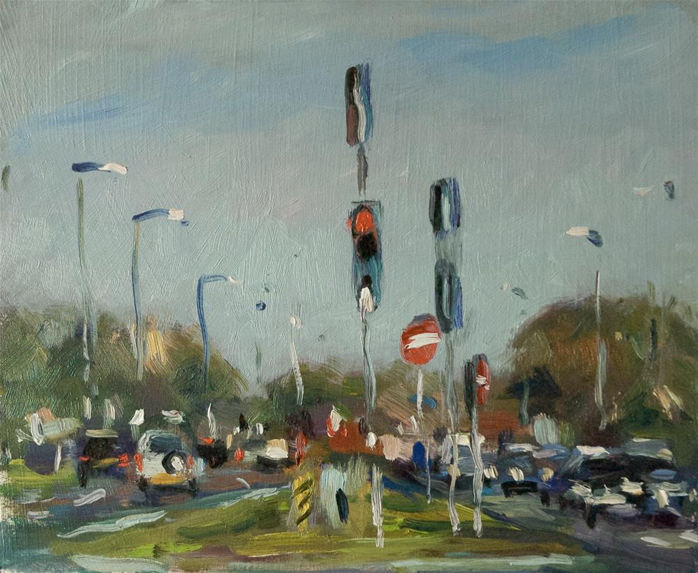 """""""Lights on the 259"""" original fine art by Andre Pallat"""