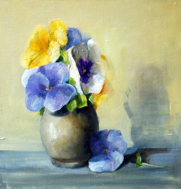 """Bunch of Pansies"" original fine art by Christina Dowdy"