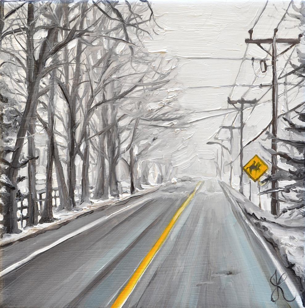 """Foggy morning"" original fine art by Jacinthe Rivard"