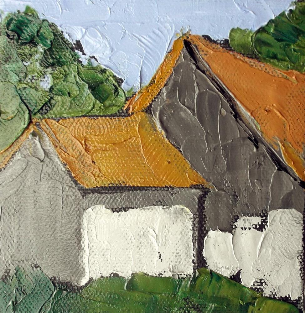 """Miniature California Barns"" original fine art by lynne french"