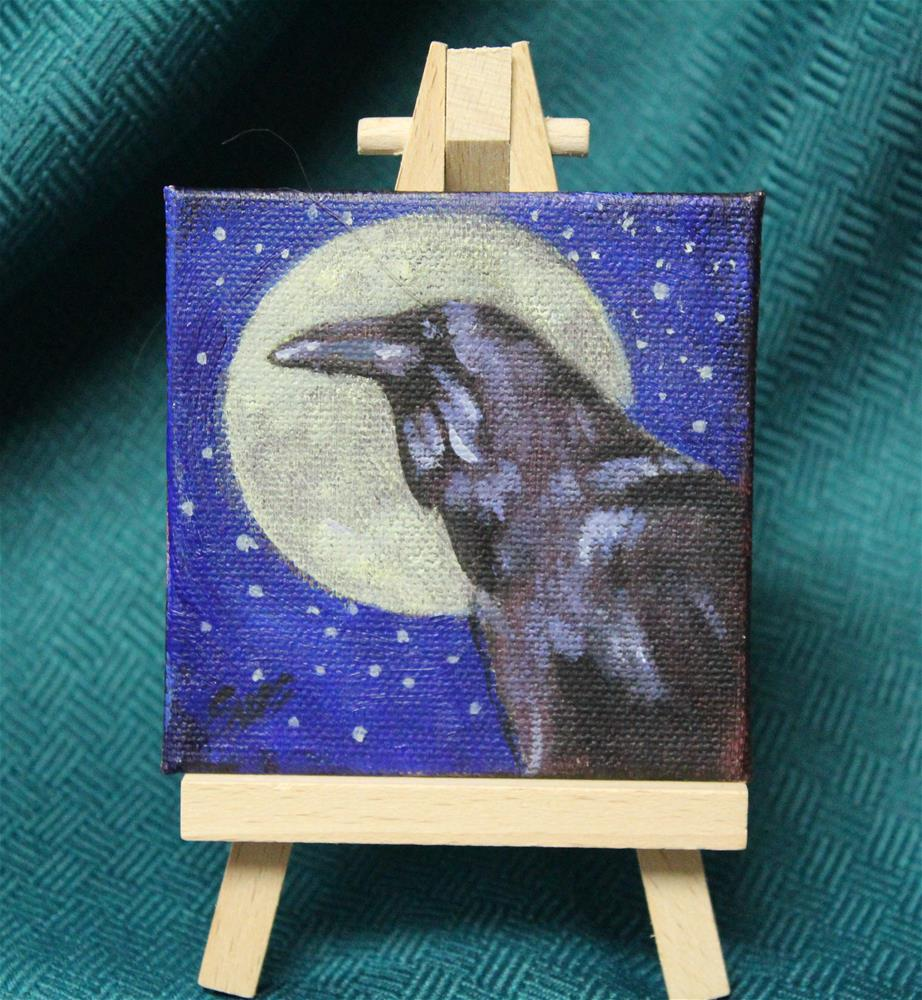 """Raven Moon"" original fine art by Linda Eades Blackburn"