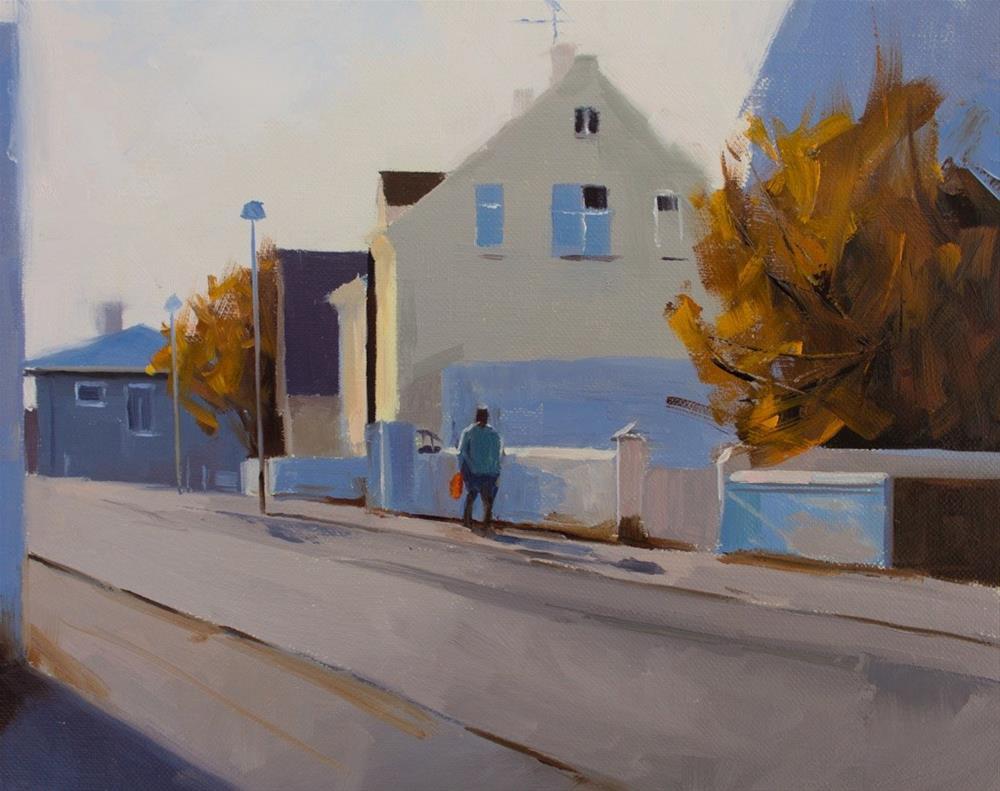 """""""Reykjavík (Unnarstígur)"""" original fine art by Thorgrimur Andri Einarsson"""