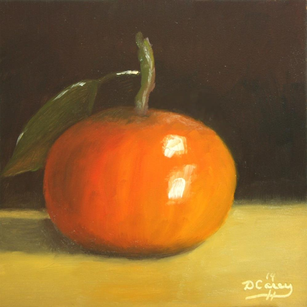 """140824 - Kitchen Painting - Tangerine 007a"" original fine art by Dave Casey"