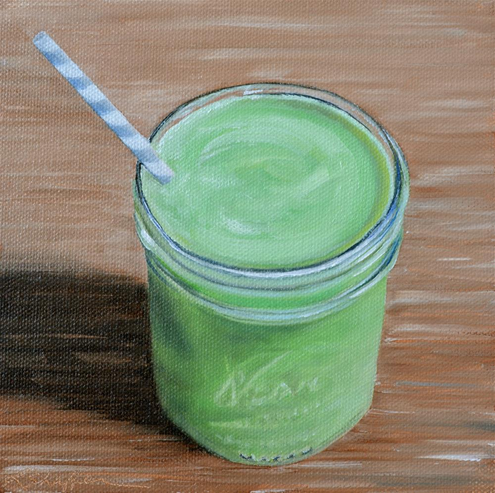 """Green Smoothie"" original fine art by Renay Shaffer"