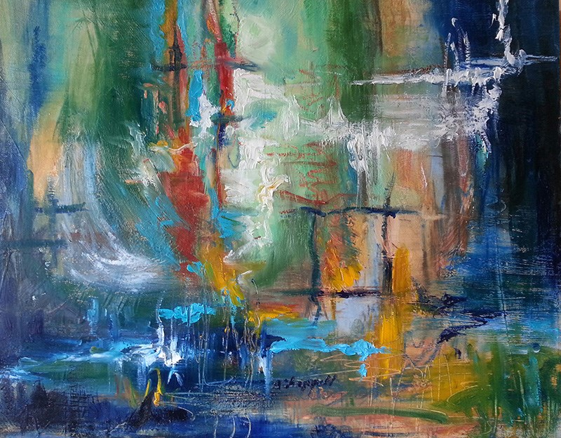 """Mystery"" original fine art by Becky Chappell"