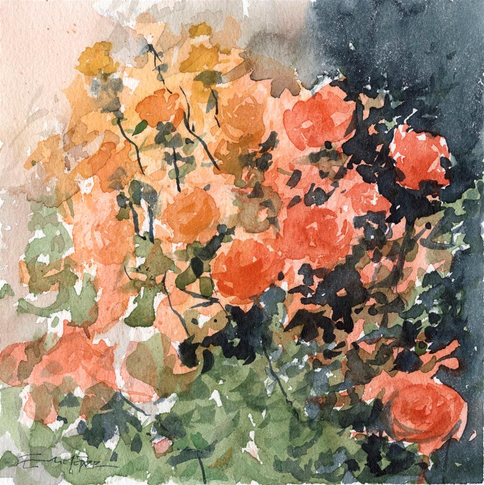 """""""flores 2"""" original fine art by Emilio López"""
