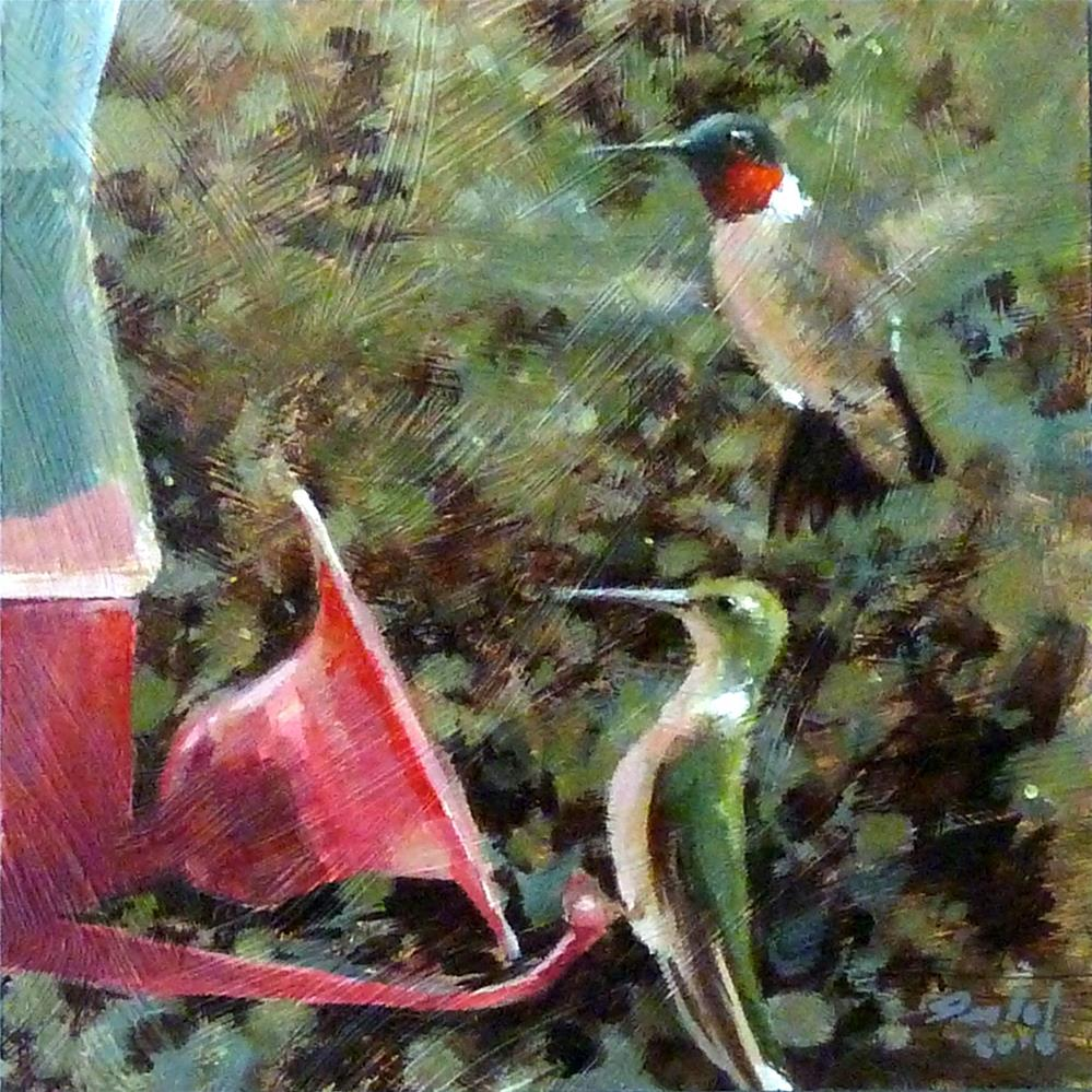 """Morning Feeder"" original fine art by Ron Ferkol"