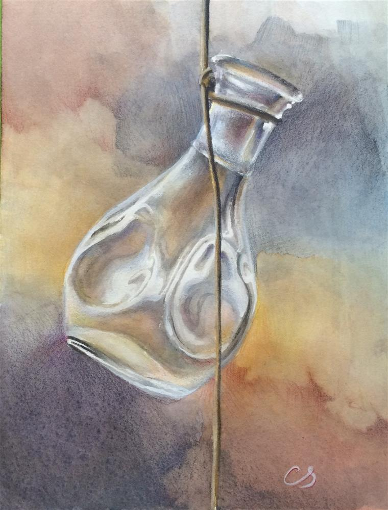 """Glass Bottle"" original fine art by Claudia Selene"