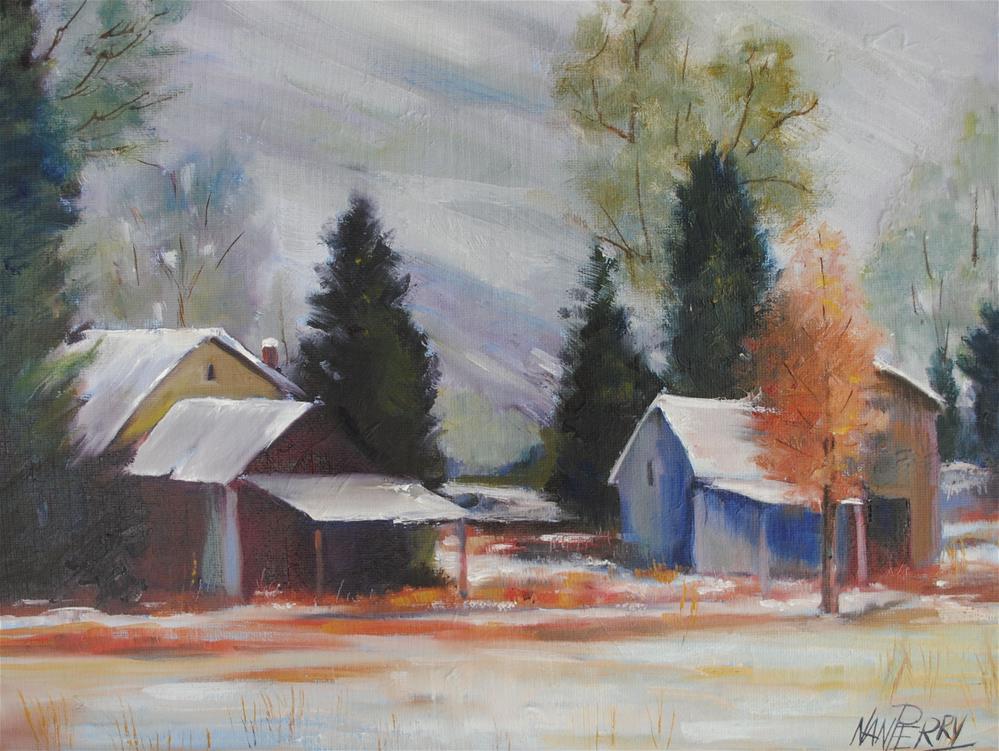 """Snowed In"" original fine art by Nan Perry"