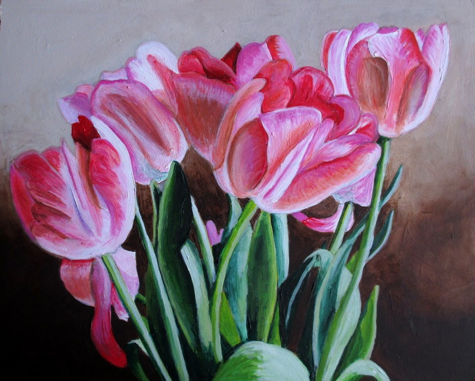 """Spring Tulips"" original fine art by Lisa Wiertel"
