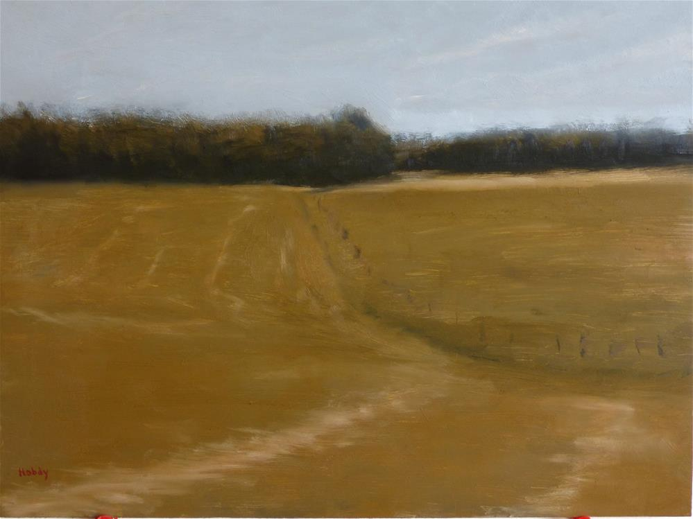 """Hay Field"" original fine art by Weston Hobdy"