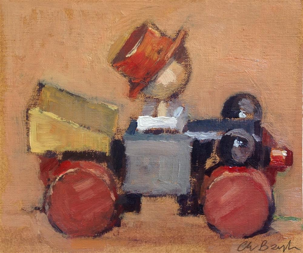 """Wooden toy"" original fine art by Christine Bayle"
