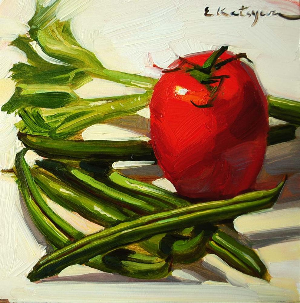 """Vegetables for Supper"" original fine art by Elena Katsyura"