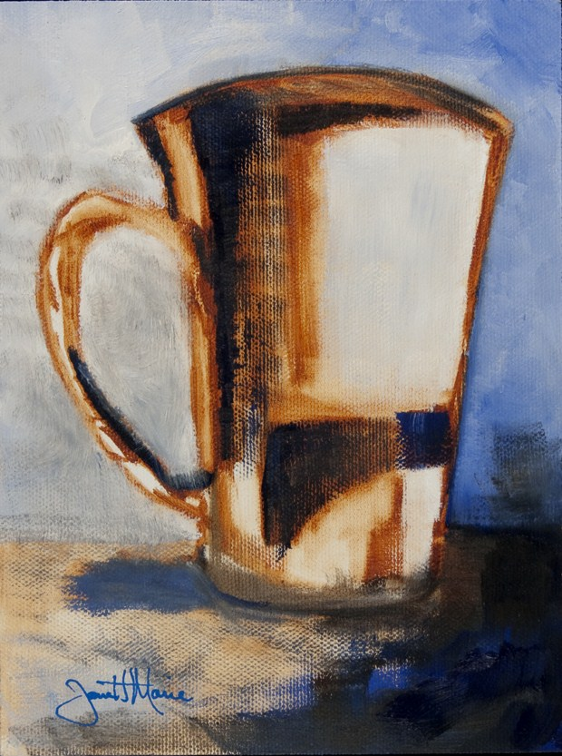 """Coffee at Large"" original fine art by - JanettMarie"