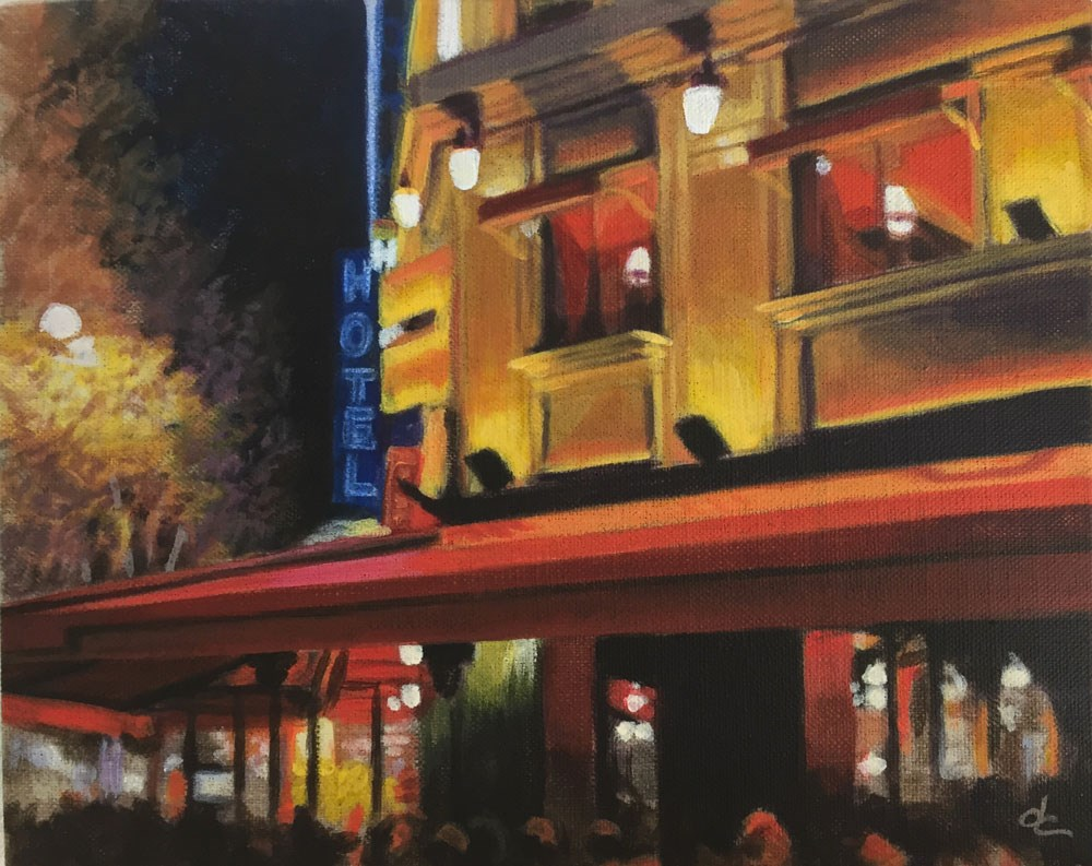 """Evening in Paris"" original fine art by Dana Chester"
