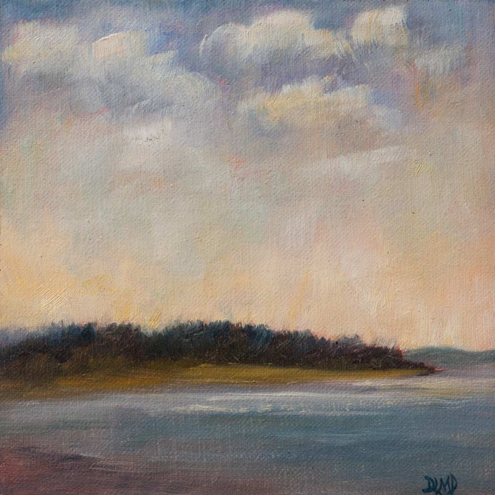 """Nightfall Approaches"" original fine art by Debbie Lamey-Macdonald"