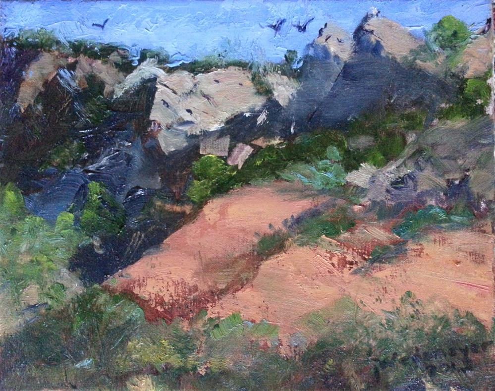 """Raven's Ridge"" original fine art by Pamela Wedemeyer"