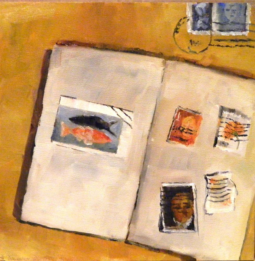"""""""Stamp Collection"""" original fine art by Debra Shore"""