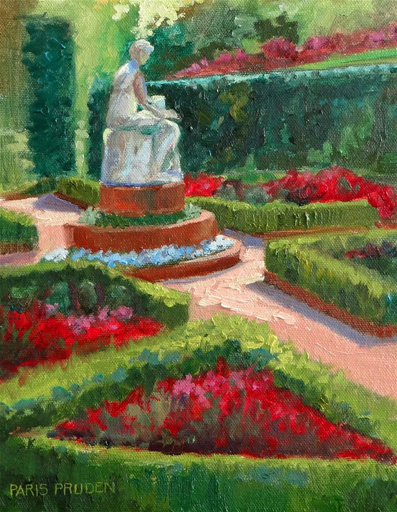 """Bayou Bend Gardens"" original fine art by Nancy Paris Pruden"