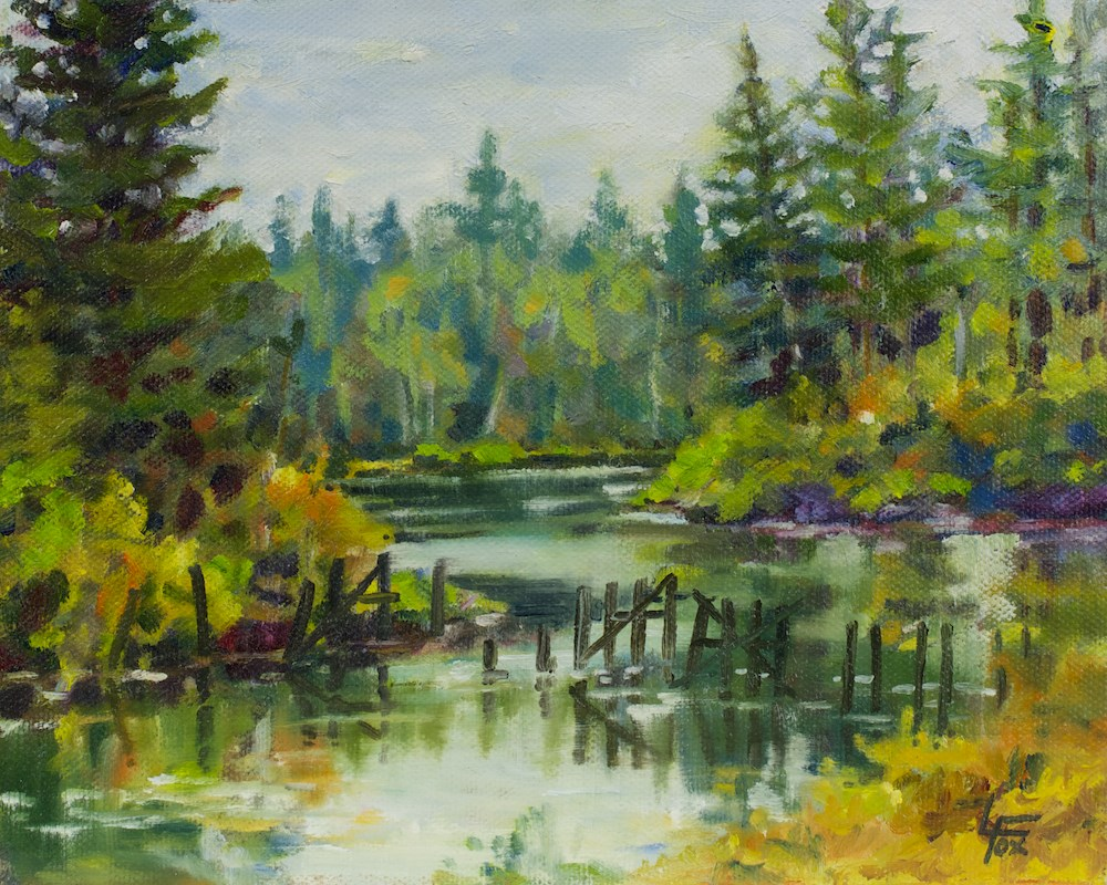 """Morton's Inlet"" original fine art by Leona Fox"